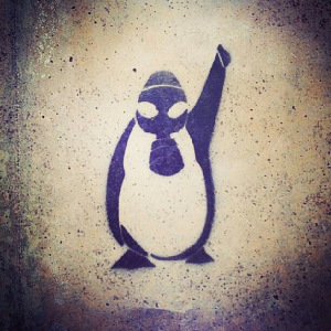 "The ""Rebel Penguin,"" symbol of Turkish resistance. © Unknown 