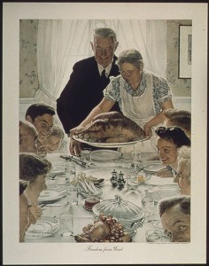 "Norman Rockwell's ""Freedom from Want"" or ""The Thanksgiving Picture"" © 1943 
