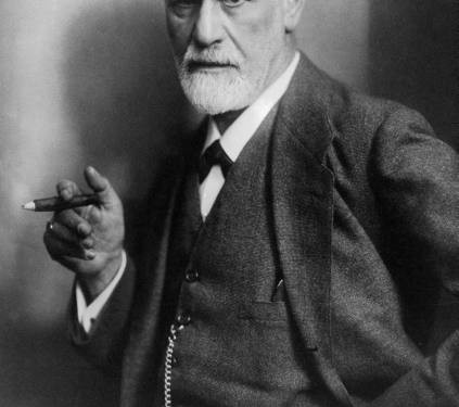 Sigmund Freud, founder of psychoanalysis, smoking cigar. ©  1922 Max Halberstadt | LIFE photo archive