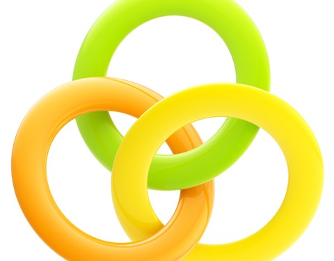 Three interlocking rings © Nbvf | Dreamstime.com