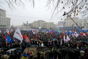 A massive pro-EU rally in Kiev on 24th of November, attended by over 100k © Ivan Bandura | Flickr