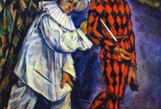 Paul Cézanne: Pierrot and Harlequin (1888, Oil on canvas) © Public Domain | Wikimedia Commons