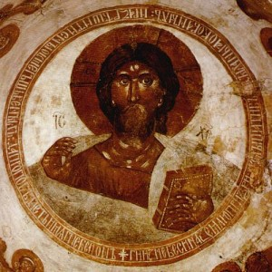 Jesus Christ Pantocrator, fresco (1378) by Theophanes the Greek in Church of the Transfiguration, Novgorod, Russia © ru.wikipedia.org