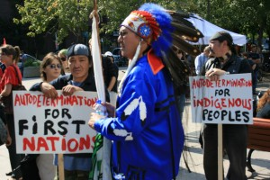 First Nations protest in Montreal, Canada, 2008 © Fightback/ La Riposte | Flickr