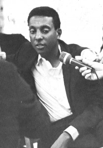 """Stokley Carmichael expounds 'black power' theory"" in 1967 at Michigan State University. © Michigan State University (photographer not identified) 