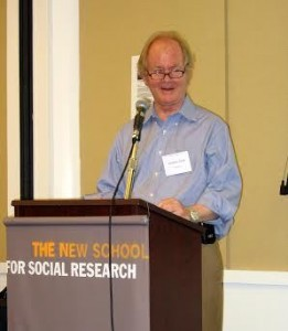 Jonathan Schell lecturing at The New School for Social Research © The New School
