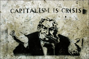 """Capitalism is Crisis"" street art © 2009 Steffi Reichert 