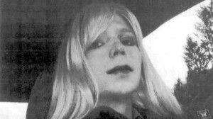 Chelsea Manning posing in a wig and lipstick © Chelsea Manning | U. S. Army Records Management and Declassification Agency