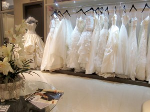 Rack of wedding dresses at Kleinfeld in Manhattan © VancityAllie.com | Flickr