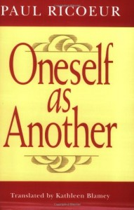 Book cover of Oneself as Another by Paul Ricoeur © University of Chicago Press | Amazon