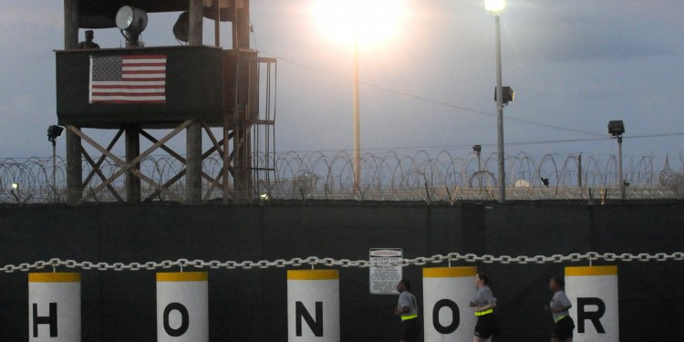 "The ""Honor Bound"" sign outside Guantánamo Bay detention facility © Joshua Nistas 