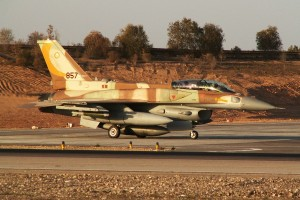 "IAF F-16I Sufa of the 107th Squadron (""The Knights of the Orange Tail Squadron"") preparing for take-off during Operation Cast Lead © Yosi Yaari 