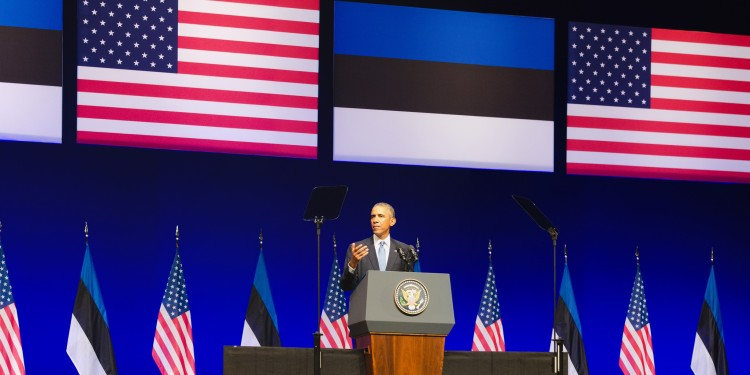 President Barack Obama speaking in Nordea Concert Hall, Tallinn, Estonia ©  Johan Viirok | Flickr