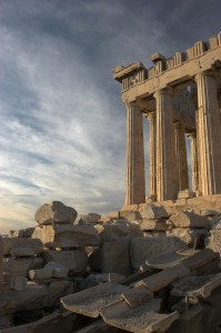 The Parthenon, in Athens, a temple to Athena (view from the south) © Thermos   Wikimedia Commons