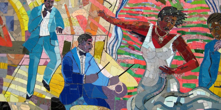 A mosaic by Louis Delsarte in Harlem, the former epicenter of Black jazz © Wally Gobetz | Flickr