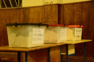 Ballot boxes in Kanyama, Chipata, Zambia, in 2011 © afromusing | Flickr