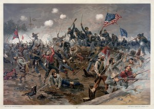 Painting of the Battle of Spottsylvania by Thure de Thulstrup, 1864 ©  Adam Cuerden | Library of Congress