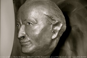 Head of Martin Heidegger, 1889-1976, sculpture by Otto Wesendonck, Martin Heidegger museum, castle Messkirch, Baden-Württemberg, Germany © Renaud Camus | Flickr