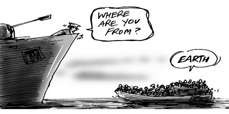 """Where are You From?"" © Simon Kneebone 