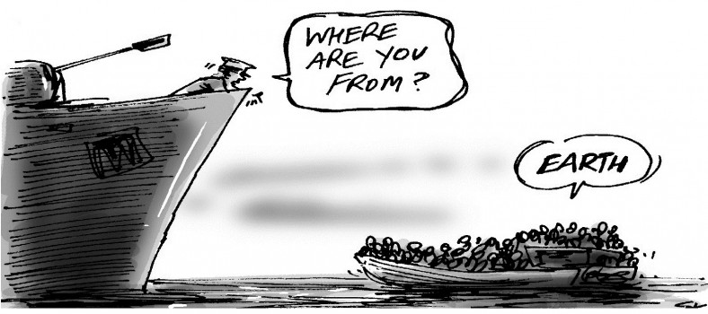 """""""Where are You From?"""" © Simon Kneebone 
