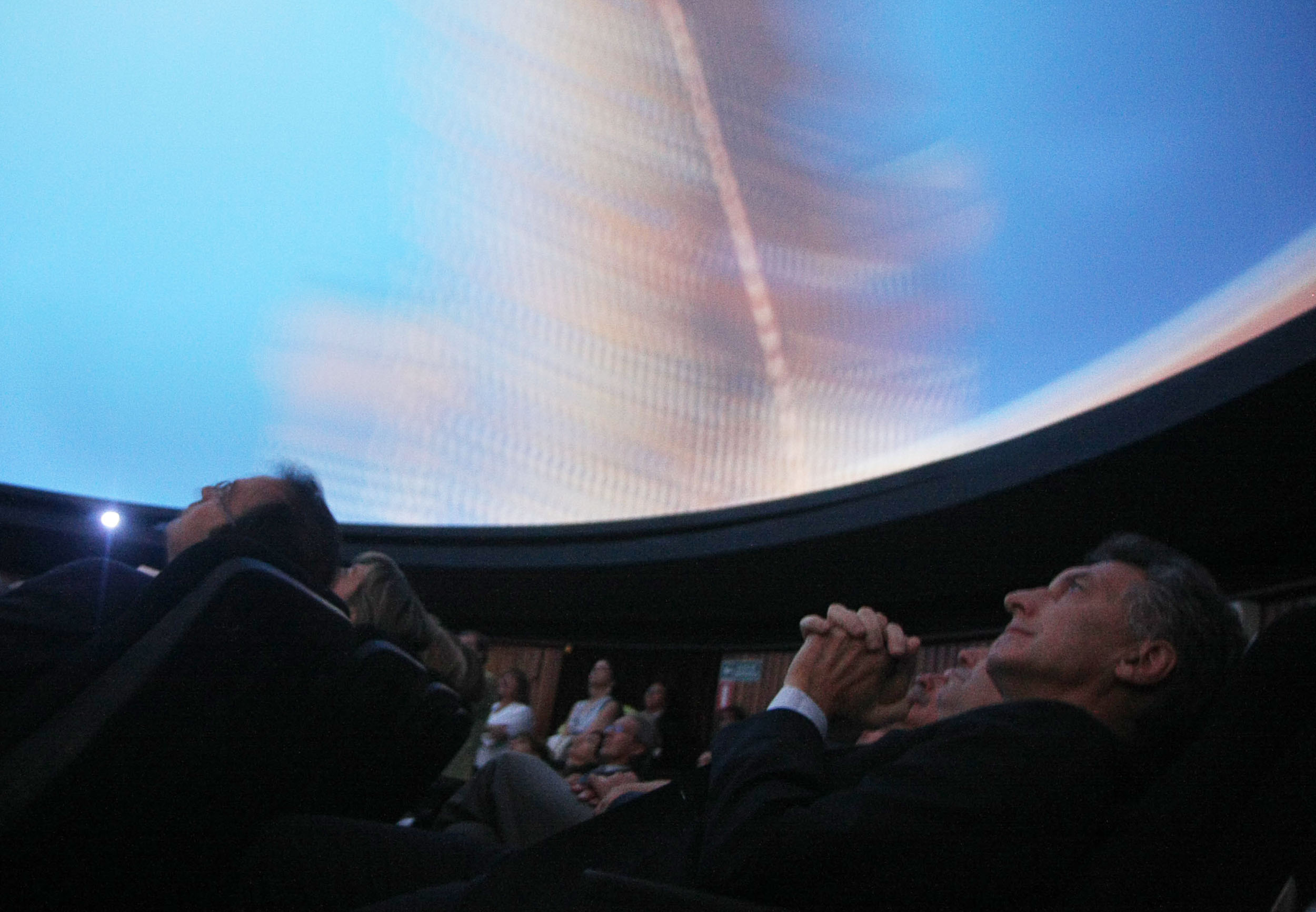 going backward in public seminar mauricio macri at the reinauguration of the galileo galilei planetarium in 2011 copy nahuel