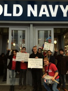 Protest at an Old Navy store in New York City, December 2015 © Stephanie Basile | Courtesy of the author