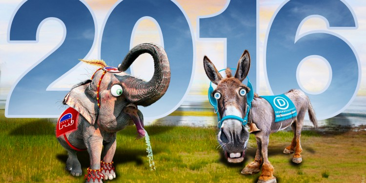 Republican Elephant & Democratic Donkey 2016 © DonkeyHotey | Flickr