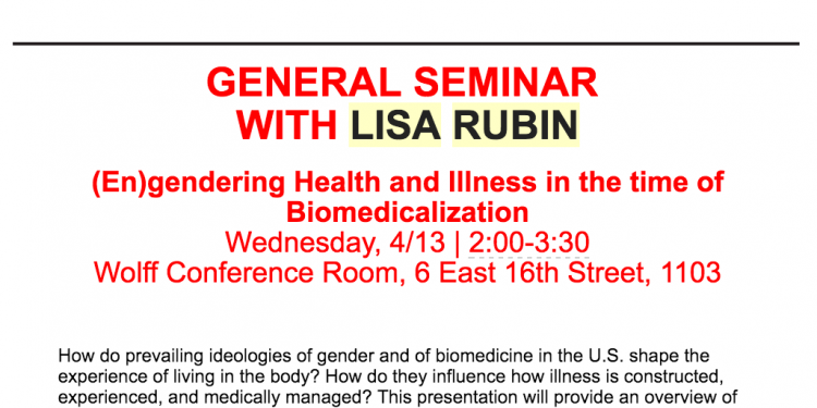 Lisa Rubin- General Seminar