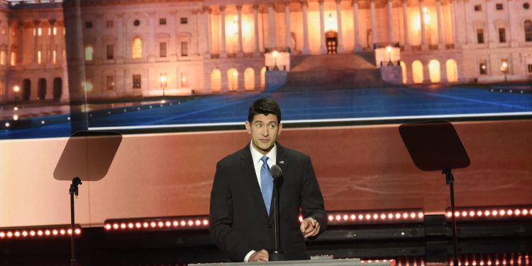 ABC NEWS - 7/19/16 - Coverage of the 2016 Republican National Convention from the Convention Center in Cleveland, Ohio, which airs on all ABC News programs and platforms.    (ABC/ Ida Mae Astute)   PAUL RYAN, SPEAKER OF THE HOUSE