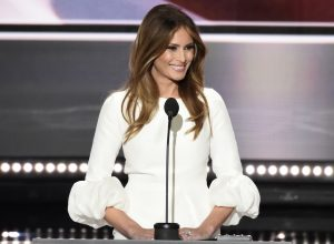 ABC NEWS - 7/18/16 - Coverage of the 2016 Republican National Convention from the Convention Center in Cleveland, Ohio, which airs on all ABC News programs and platforms. (ABC/ Ida Mae Astute) MELANIA TRUMP