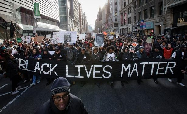 #BLM passes The New School.
