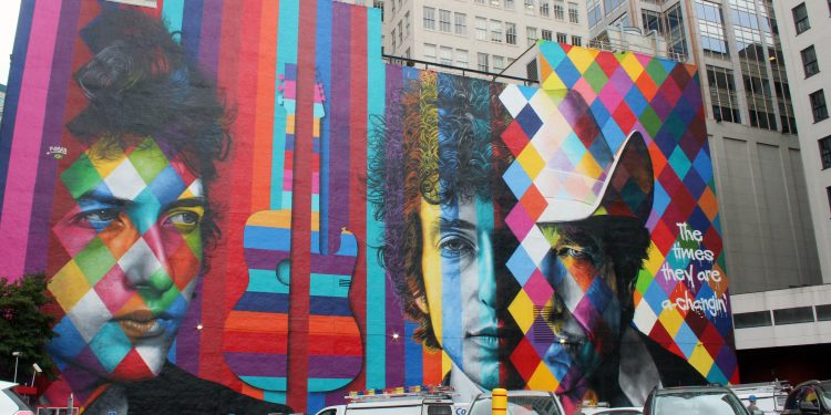 Bob Dylan Mural, Downtown Minneapolis 2016 © Courtney Celley | Flickr