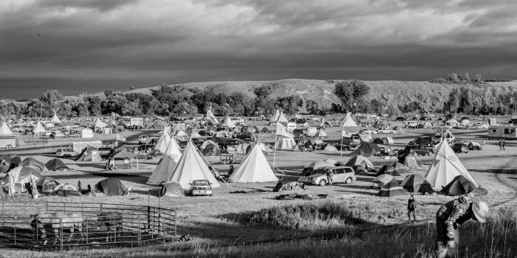 Oceti Sakowin Resistance Camp, Standing Rock, ND.  Photo Credit: Jaida L Grey Eagle