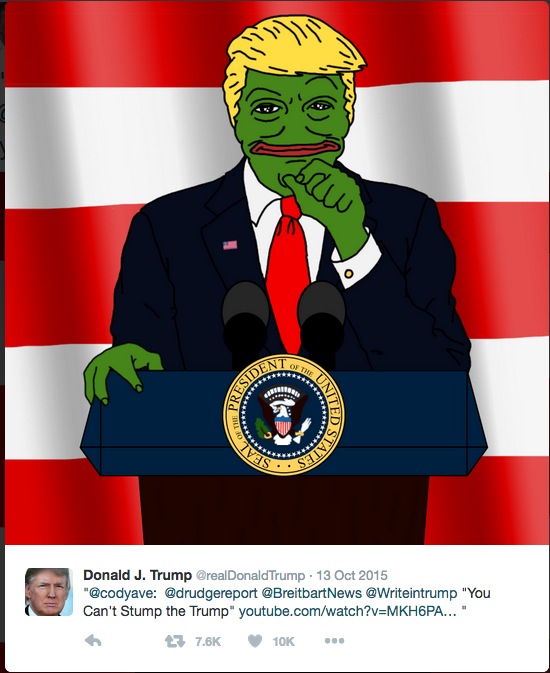 Screenshot of Trump's twitter