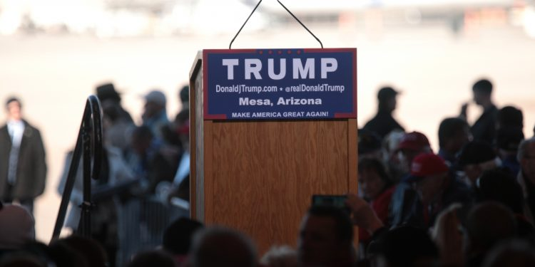Donald Trump podium © Gage Skidmore | Flickr