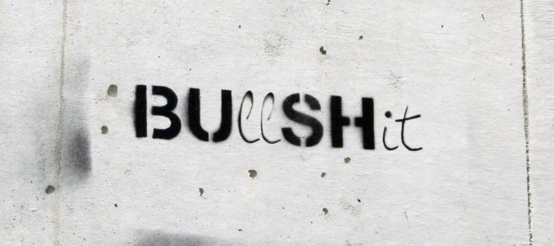 Bu(ll)sh(it) Stencil in Almada © Manuel Faisco | Flickr