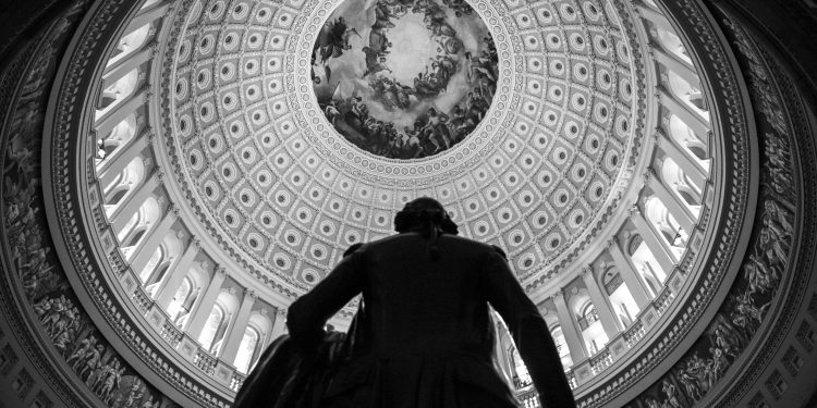 Statues line the hall of the rotunda at the Capitol during the 58th Presidential Inauguration in Washington, D.C., Jan. 20, 2017. More than 5,000 military members from across all branches of the armed forces of the United States, including reserve and National Guard components, provided ceremonial support and Defense Support of Civil Authorities during the inaugural period. (DoD photo by U.S. Air Force Staff Sgt. Marianique Santos)