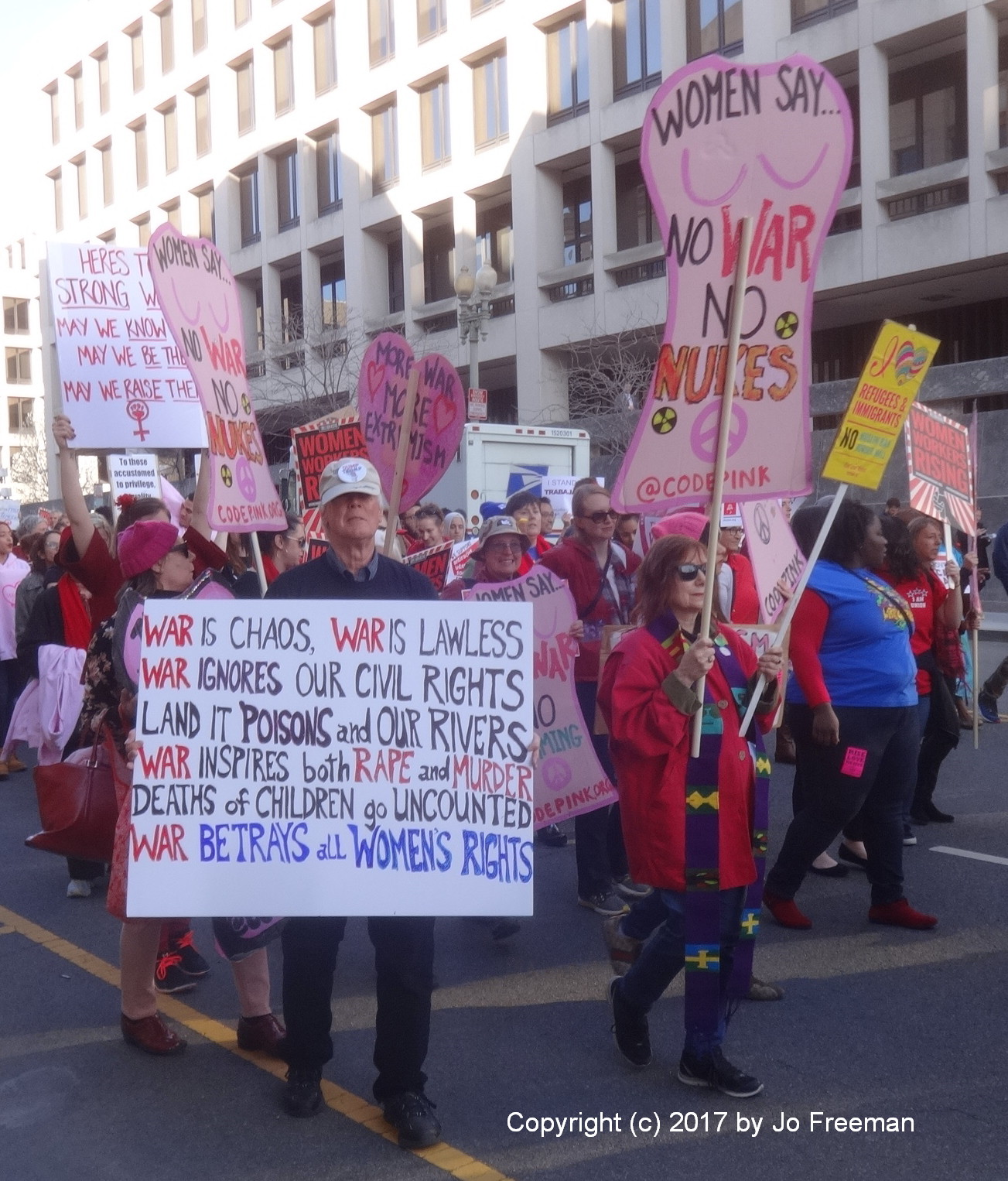Marching to Pennsylvania Ave. from the Department of Labor