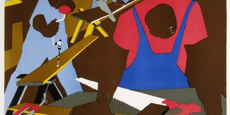 © Jacob Lawrence, Carpenters, 1977