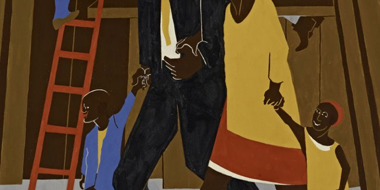 Poster Design, Whitney Exhibition 1974 © Jacob Lawrence
