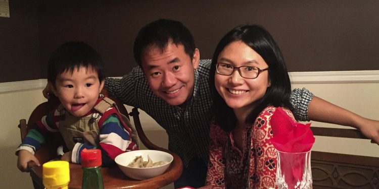 Xiyue Wang and his family
