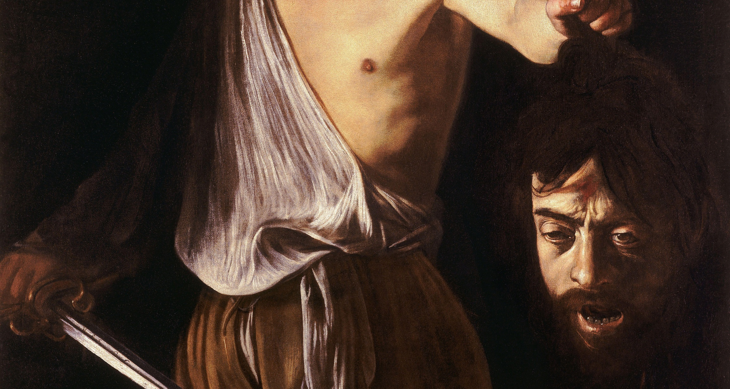 caravaggios david with the head of goliath essay 2017-10-31 date: october 30, 2017  getty museum presents caravaggio: masterpieces from the galleria borghese  on view at the getty museum.